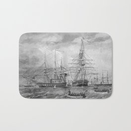U.S. Naval Fleet During The Civil War Bath Mat