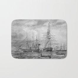 U.S. Naval Fleet During The Civil War Bath Mat