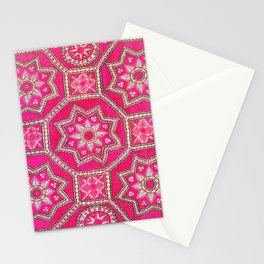 Pskent Suzani Uzbekistan Embroidery Print Stationery Cards