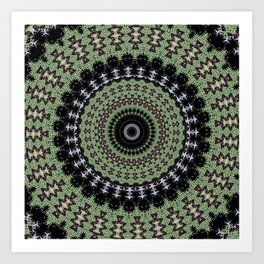 Sage Green Mandala Art Print