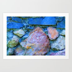 Blue Rocks Art Print