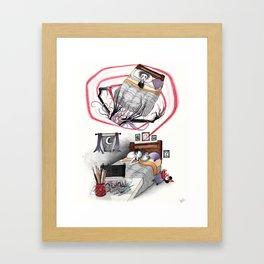El Monstruo Pintado (Parte I) Framed Art Print