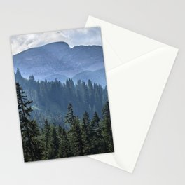 Into the woods.  Lauterbrunnen Valley. Alps. Switzerland Stationery Cards