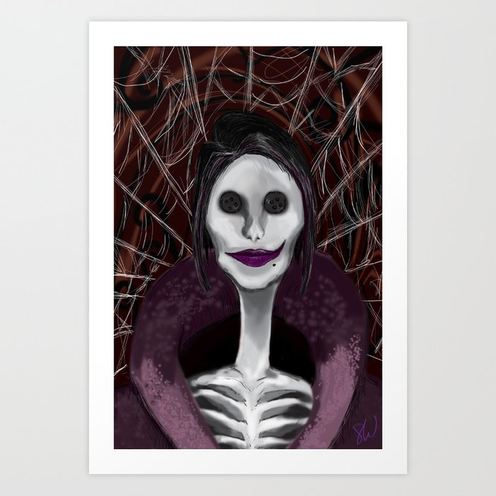Coraline The Other Mother Art Print By Swinkart Society6