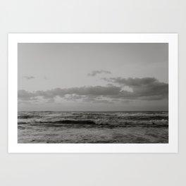 Pacific Ocean in Shades of Grey Art Print