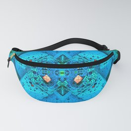 Polygonal Graphic Turquoise Fanny Pack