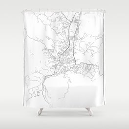 Minimal City Maps - Map Of Banja Luka, Bosnia And Herzegovina. Shower Curtain
