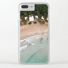 Tropical Summer Beach in The Philippines Clear iPhone Case