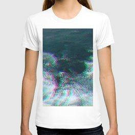 Oceanic Glitches - Deep Green T-shirt