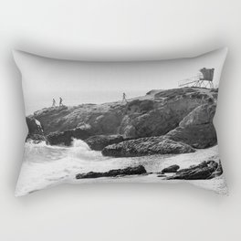 Leo Carrillo State Beach | Malibu California | Black and White Photography | Malibu Photography Rectangular Pillow