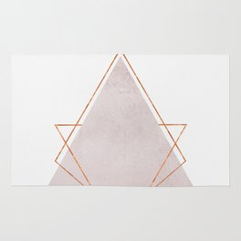 BLUSH COPPER ROSE GOLD GEOMETRIC SYNDROME Rug