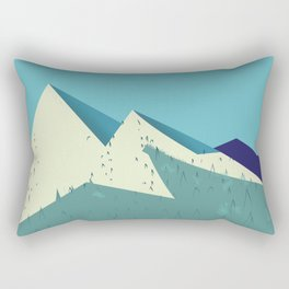 Rocky Mountains Rectangular Pillow