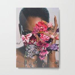 Rihanna Floral Metal Print