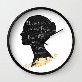 He has Made Everything Beautiful Wall Clock