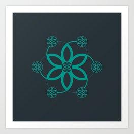 Evolution | Alien crop circle | Sacred geometry Art Print