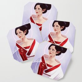Elf Lady Painting Coaster