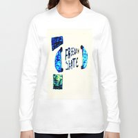 skate Long Sleeve T-shirts featuring Skate by SLIDE