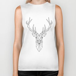 Geometric Deer Head Biker Tank