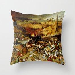 "Pieter Bruegel (also Brueghel or Breughel) the Elder ""The Triumph of Death"" Throw Pillow"
