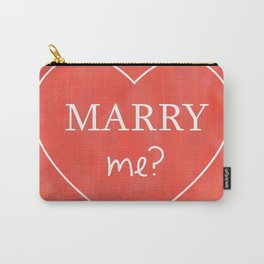 Valentines Day Marry Me Carry-All Pouch
