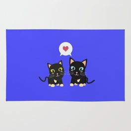 Cats in Love Rug