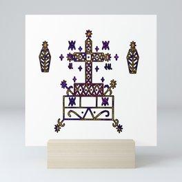 Purple Baron Samedi Veve Sigil Mini Art Print