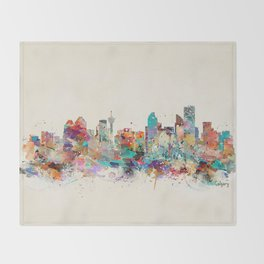 calgary alberta  Throw Blanket