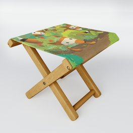 Babies in Bushes Folding Stool