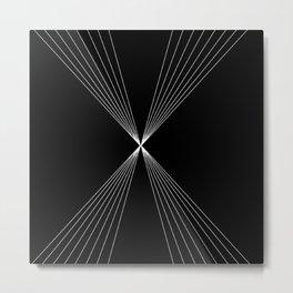 Line Art 4th dimensional Metal Print