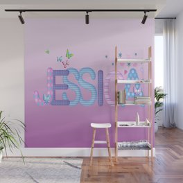 Jessica / Personalised Name Illustration Wall Mural