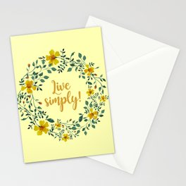 LIVE SIMPLY! Stationery Cards