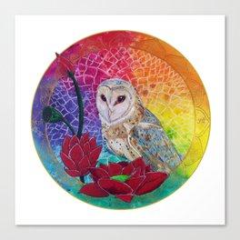 Lakshmi's Vahana ( Bird Whisperer Project Owl ) Canvas Print