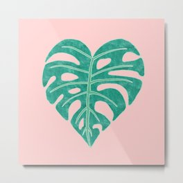 Leaf Heart Metal Print