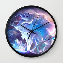 Alolan Ninetales  and Vulpix Wall Clock