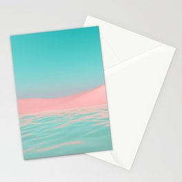 Pink Beach Stationery Cards
