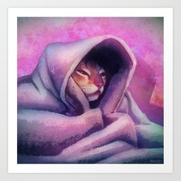 Cozy Cat Art Print