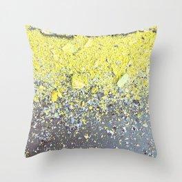 Chalk Dust Confetti - Yellow Throw Pillow