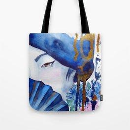 blue geisha Tote Bag