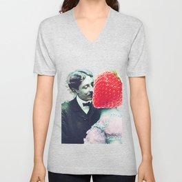 Strawberry love Unisex V-Neck
