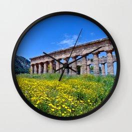 Antique Ruins of Segesta in Sicily  Wall Clock