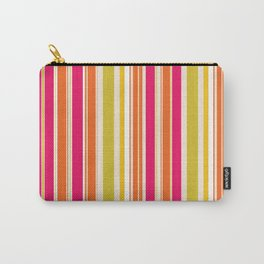 Stripes (Parallel Lines) - Orange Pink Green White Carry-All Pouch