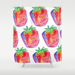 Watercolor Painting Food Illustration Nursery Art - Color of Your Life Shower Curtain