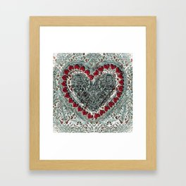 Winter Heart Framed Art Print
