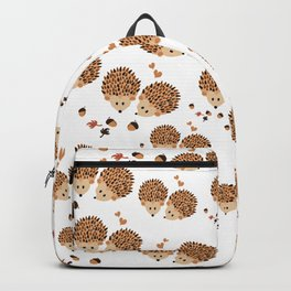 Hedgehogs in autumn Backpack