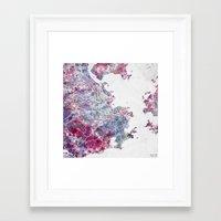 rio de janeiro Framed Art Prints featuring Rio de Janeiro map by MapMapMaps.Watercolors