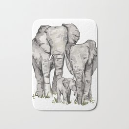 Elephant Family Bath Mat