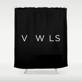 Vowels no vowels Shower Curtain