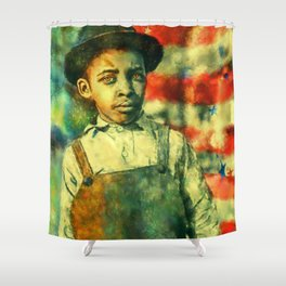 Face of Greatness Shower Curtain