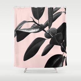Ficus Elastica Blush Black & White Vibes #1 #foliage #decor #art #society6 Shower Curtain