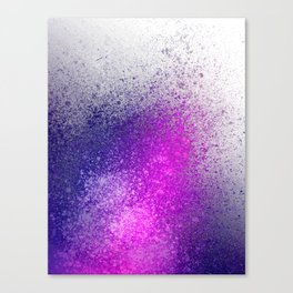 Hot Pink and Purple Paint Splatter Canvas Print